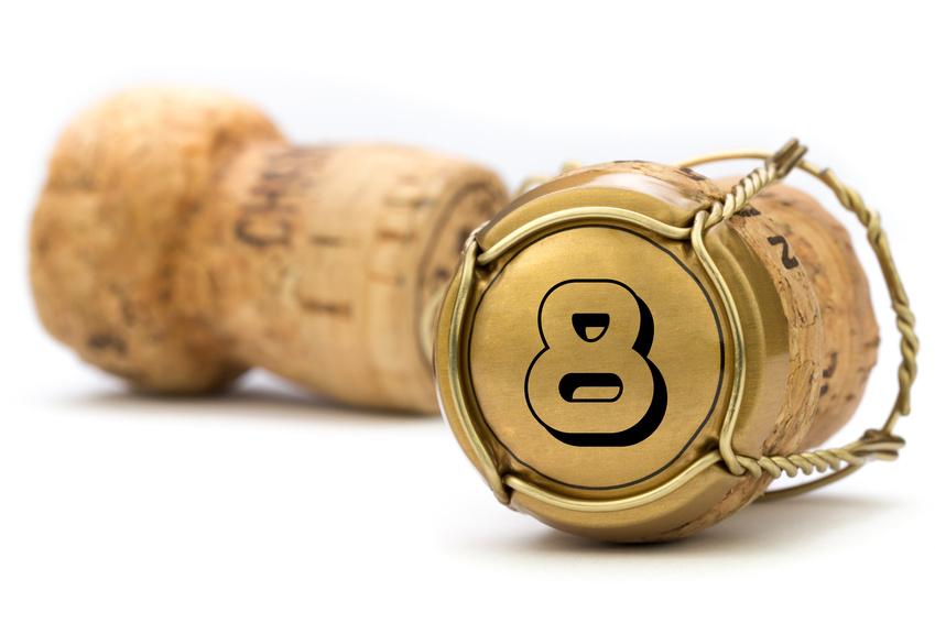 Champagnerkorken Jubilum 8 Jahre